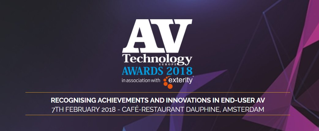 AV Technology Europe Awards 2018 twitter image