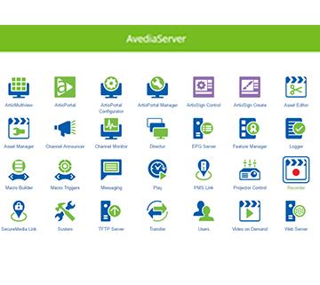 AvediaServer Interface Image 360