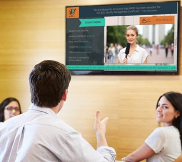 Digital signage in corporate and finance
