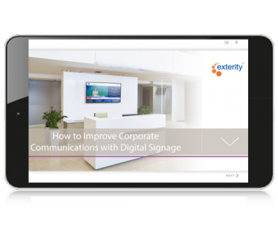 Interactive guide digital signage square