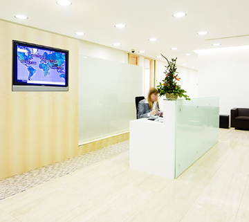 enterprise communications in reception