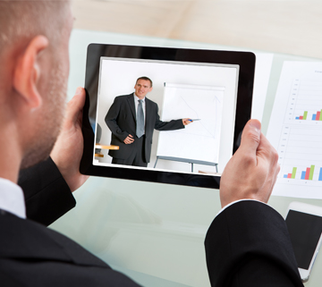enterprise communications on a tablet