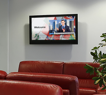 digital signage lounge