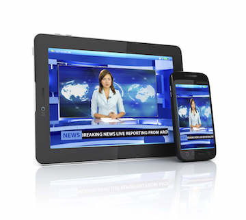 live tv on a mobile device