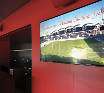 Lou Rugby stadium digital signage